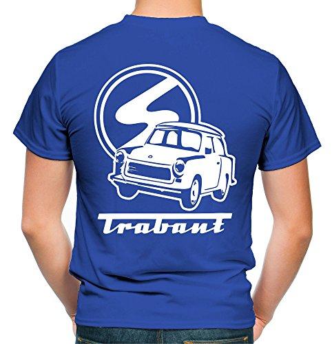 Trabant Männer und Herren T-Shirt | DDR Osten Simson Wartburg Trabi Geschenk | M2 FB (S, Blau)