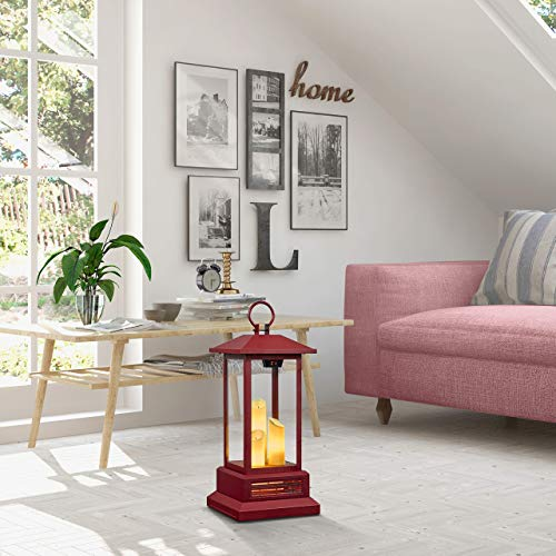 """Duraflame 28"""" Electric Lantern with Infrared Heat and Remote Control, Cinnamon Heaters, 03 (Renewed)"""