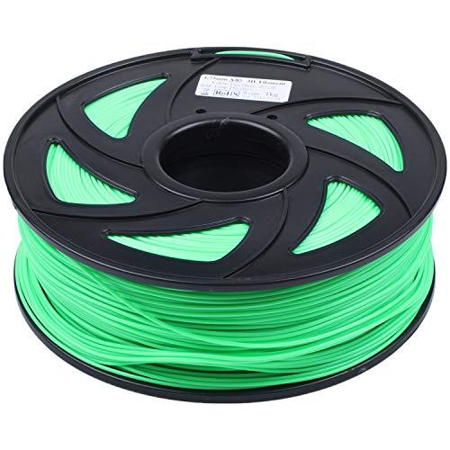 Kaxofang Materiale della Stampante 3D Filamento 'ABS Filamento 'ABS Materiale del Materiale da Stampa del Diametro di 1,75 Mm Stampanti 3D 1Kg (2,2Lb) / Bobina(Verde Fluorescente)