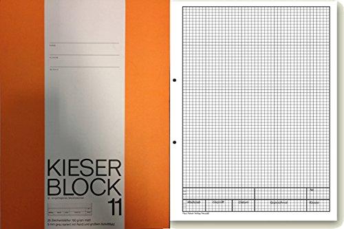 Brunnen Kieserblock | verschiedene Lineaturen und Verpackungseinheiten zur Auswahl (1, Lineatur 11 (kariert))