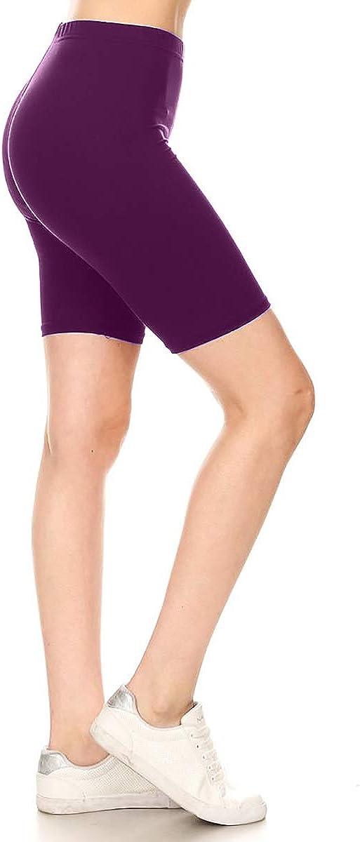 Leggings Depot Women's Indefinitely Fashion List price Biker Prin Popular Shorts Workout