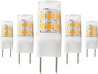 Dayker 4W G8 LED Bulb T4 Jc Type AC 100-130V G8 Bi-pin Base Lightbulb Warm White for Closet Lights, Under Cabinet, Landscape Lighting, Auto, RV Lighting(5 Pack)
