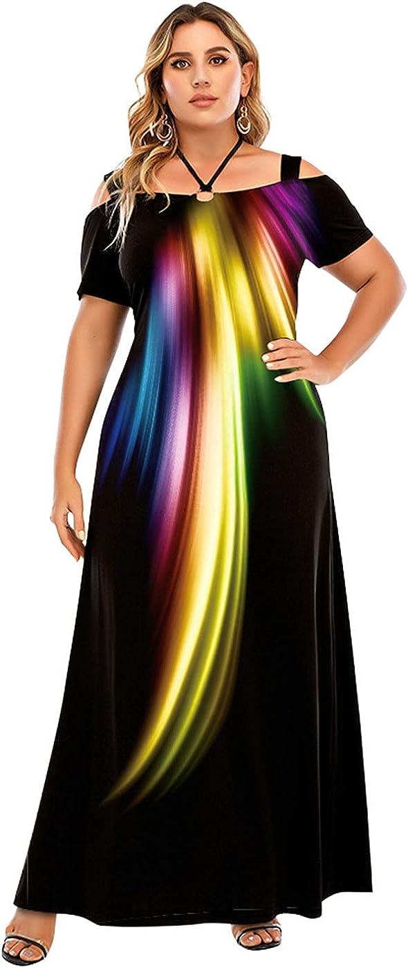 LAPA Women Plain Dress Long Dress, Sexy Causal Summer Maxi Dresses for S-6XL