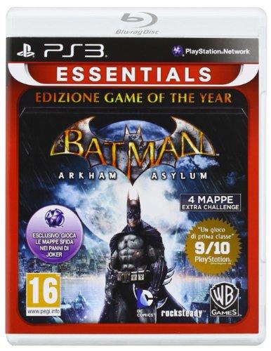Warner Bros Batman Arkham Asylum GOTY Essentials, PS3 Básico + complemento PlayStation 3 Inglés, Italiano vídeo - Juego (PS3, PlayStation 3, Acción / Aventura, T (Teen), Soporte físico)