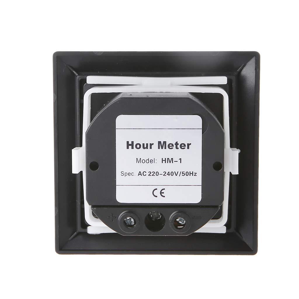 Square Counter Digital 0-99999.9 Hour Hourmeter Meter Gauge 0.3W AC220 AC