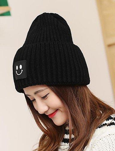 ZYT Bonnet/Crochet Toutes Les Saisons Vintage/Travail / Décontracté Tricots Unisexe, Black, One-Size