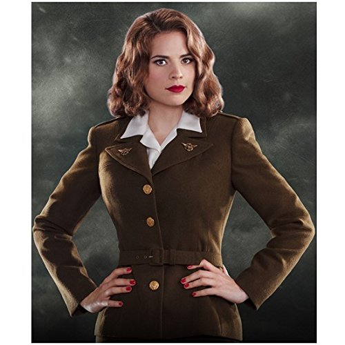 Agent Carter 8 x 10 Photo Hayley Atwell/Peggy Carter in Uniform Hands on Hips Gorgeous! kn