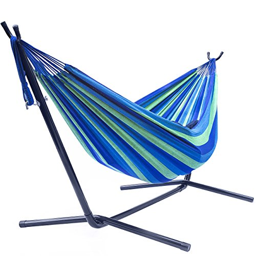 Sorbus Double Hammock with Steel Stand Two Person Adjustable Hammock Bed -...