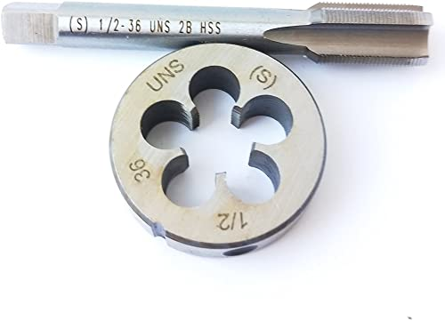lowest 1/2-36 HSS Tap And Die Set, wholesale UNS Machine Thread Tap And UNS Round online Thread Die Right Hand outlet online sale