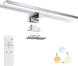 Lampe Miroir LED Dimmable, Applique Salle de Bain 40cm 1200LM 12W IP44, Couleur Réglable 3000K 4500K 6000K, Lampe Miroir a...