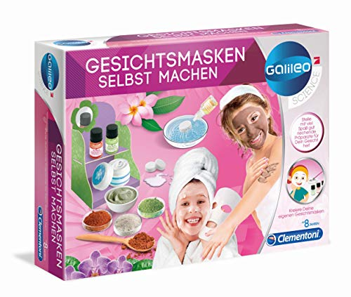 Clementoni 59171 Galileo Science – Gesichtsmasken selbst machen, feuchtigkeitsspendende & duftende Masken, Spielzeug für Kinder ab 8 Jahren, Kosmetiklabor für Zuhause