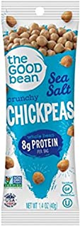 The Good Bean Chickpeas Snacks Grab & Go, Sea Salt, Gluten Free and Non-GMO, 1.4 Ounce, 10 Count