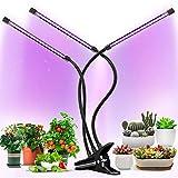 植物育成ライト 60LED 3本チューブ ライトチューブ調整 8段階明るさ タイマー機能 USB給電 クリップ式 360°角度及び高さ調整可能 成長期用 水耕栽培 鉢植え 家庭菜園 ガーデン ブラック