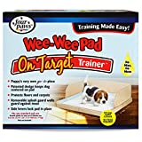 Four Paws Wee-Wee Pad On Target Trainer Dog and Puppy Training Tray 22' x 22' x 1.5'