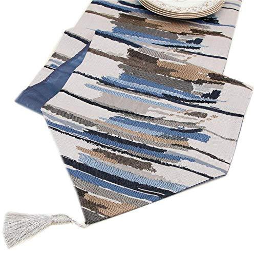 Hinleise Tischläufer, Tischdecke – mit farbigen Streifenmuster, Tischdecke für Tischmatte, Esszimmer, Partymöbel, Dekoration - 6