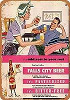 2個 20*30CMメタルサイン-家事のためのフォールズシティビール