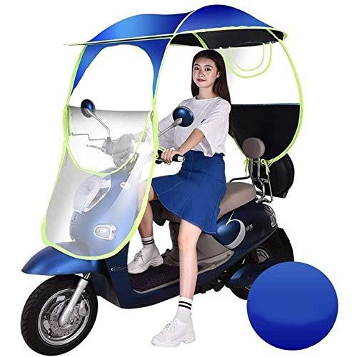 Paraguas De Motocicleta Toldo con Dosel, Universal Car Motor Scooter Paraguas Movilidad Sombrilla Cubierta De Lluvia Impermeable (Color : Blue, Size : B)