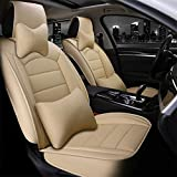Maidao Fundas de asiento de coche personalizadas para Toyota Yaris 2002-2021 para asiento delantero, compatible con airbag resistente al desgaste, impermeable, 2 fundas de asiento
