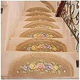 5 unids escalera alfombras alfombras escaleras colchas esteras escaleras alfombra, almohadilla de protección antideslizante protección para interiores, pasta repetida sin escalera de seguimiento escal
