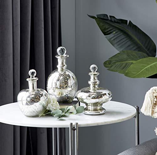 "Deco 79 Decorative Jars, S/3 7"", 8"", 9"" H, Silver"