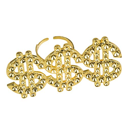 Boland 64407 Ring Triple Dollar, Gold
