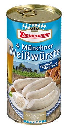 Zimmermann 4 Münchner Weißwürste, 530 g
