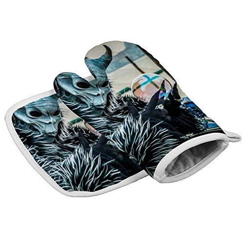 Nonebrand Isolierhandschuhe Masken und Kostüme bei Karneval in Venedig Professionelle hitzebeständige Ofenhandschuhe, inklusive isolierten Handschuhen und isolierten quadratischen Pads