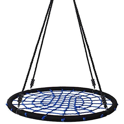 Yorbay Nestschaukel Tellerschaukel für Kinder und Erwachsene (120cm, Blau)