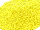 Mini-Perlen gelb-glimmer 100g -