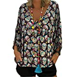 Frauen Sexy Herbst Lose Rundhals Langarm Tops Bluse Casual Jumper T-Shirt S-5XL -