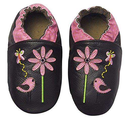 Rose & Chocolat Chaussures Bébé Sweet Birdy Marron Taille 24/25 cm 18-24 Mois