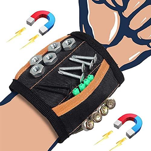 Pulsera magn eacute;tica con 15 imanes fuertes para sujetar tornillos, clavos, brocas, pulseras, tornillos, clavos, brocas, pulsera//331