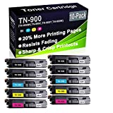 Cartuccia toner compatibile per stampanti laser HL-L9200 HL-L9300 (alta capacità) Brother TN-900 (TN-900BK TN-900C TN-900Y TN-900M, confezione da 10