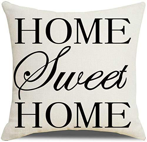 Amody Cuscini Divano Moderno, Federe per Cuscini 40x40cm Home Sweet Home Federa per Domestica, Soggiorno, Camera, da Letto, Divano Stile 6
