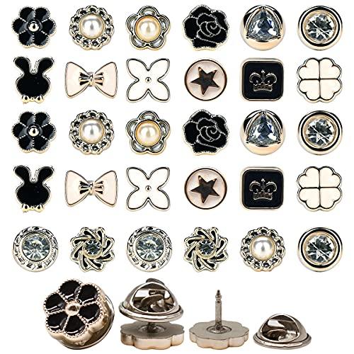 Yueser 80 Pezzi Bottoni a Spilla da Donna Bottoni Invisibili Bottoni Spilla di Sicurezza per Decorativo Tessuto Camicia Vestito e Cardigan (Stile Casuale)