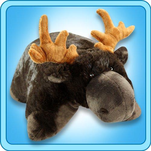 My Pillow Pet Chocolate Moose - Small 11 INCH (Brown) Soft Plush Cuddly Folding Animal