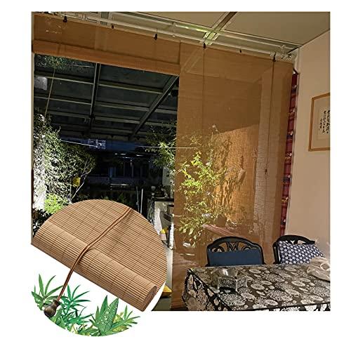 JIANFEI Cortina enrollable de bambú, 60% natural, con filtro de luz de ventilación, para interiores, balcón, oficina, privacidad, varios tamaños, personalizable (tamaño: 80 x 230 cm)