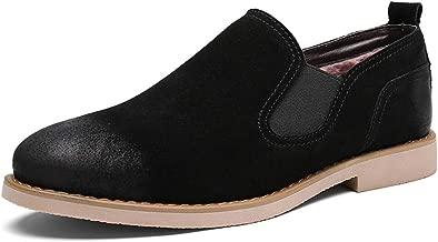 Super color Men's Plus Velvet Warm Ankle Boots Leather wear-Resistant Comfort Slip-on Chelsea Boots