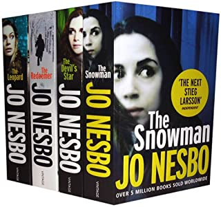 Jo Nesbo Collection: The Leopard, the Redeemer, the Snowman, the Devils Star