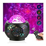Galaxy Projector, Projector Lights for Bedroom, Upgrade 3 in 1 Star Projector with Bluetooth Speaker Remote Control for Kids Teen Adults Room Decor (Black)