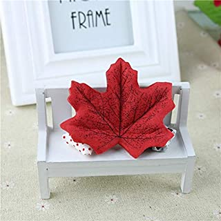 Artificial Plants - 100pcs Set Artificial Maple Leaves Simulation Decorative Fake Fall Party Decor - Decor Large Desk Artificial Reptile Green Mother Clearance Gold Wall Gucy Extra Flowers L