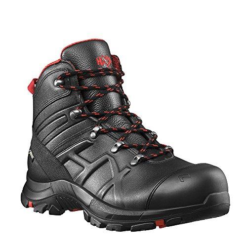 Haix Black Eagle Safety 54 Mid Robuste Workwear Sicherheitsschuhe aus Besonders Dickem Leder. 43