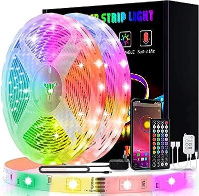 Tira LED superlarga de 25 m: tira LED RGB de 25 mmuy larga, puede satisfacer las necesidades de decoración y puede iluminar todo el hogar. Estas tiras LED 5050 RGB contienen brillantes. Este juego de tiras de luces LED RGB puede cambiar de color y ve...