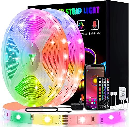25m Tiras LED, L8star Luces Led Habitación 5050 RGB, Control Remoto 44 Botones y App, Sincronización Musical, 16 Millones de Colores 28 Modos Perfecta Para Decoración TV, Salón Fiestas Dormitorio
