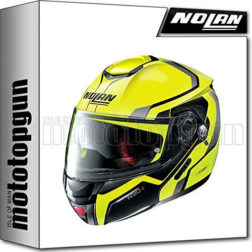 NOLAN CASCO MOTO MODULARE N90-2 MERIDIA NUS LED GIALLO 032 TG. XL