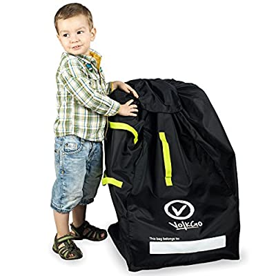 VolkGo DURABLE Car Seat Travel Bag with BONUS e-BOOK ?? Ideal Gate Check Bag for Air Travel & Saving Money ?? For Safe, Secure & Germ-Free Car Seat ?? Fits Car seats, Infant Carriers & Booster