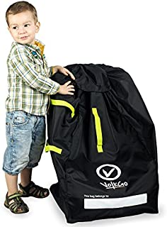 VolkGo Durable Car Seat Travel Bag with E-Book - Ideal Gate Check Bag for Air Travel & Saving Money - for Safe & Secure Car Seat - Fits Car Seats, Infant Carriers & Booster