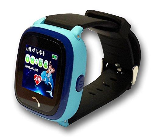 VIDIMENSIO GPS Telefon Uhr Großer Delfin Armband: schwarz-lang, WASSERDICHT, OHNE Abhörfunktion