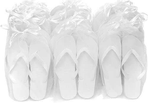 Weiß Originals Luxury Flip Flop Pack mit Organzabeuteln - 20 Paar Mx10 XLx10