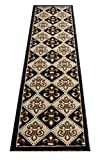 Champion Rugs CR Fleur De Lis New Orleans Runner Area Rug Carpet Brown Chocolate (2 Feet x 7 Feet)